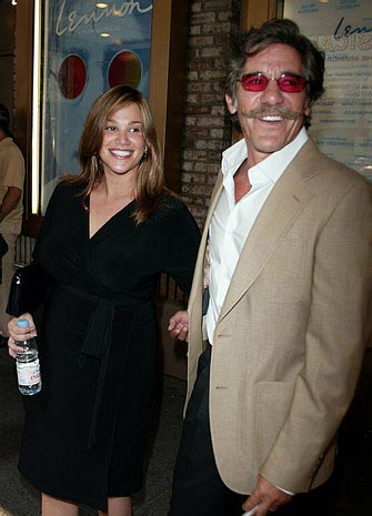 Geraldo Rivera with his pregnant wife Erika at Lennon Opening Night Arrivals