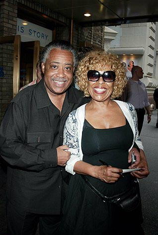 Al Sharpton and Roberta Flack at Lennon Opening Night Arrivals