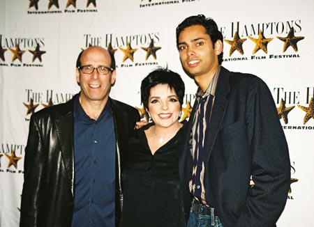 Showtime CEO Matt Blank, Liza Minnelli and Rajendra Roy