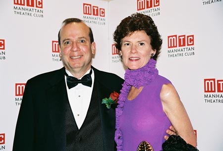 Honoree Barry Grove (MTC Executive Producer) and wife Maggie Smith at Manhattan Theatre Club Annual Spring Gala