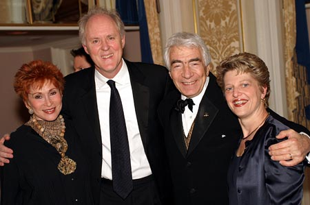 Judy Davidson (wife to Gordon), John Lithgow (Honoree), Gordon Davidson (Honoree), and Carey Perloff (Artistic Director of ACT) at NCTF Gala Honors John Lithgow, Chris Campbell, and Gordon Davidson
