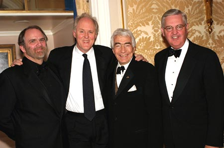 Chris Campbell, John Lithgow, Gordon Davidson, and James E. Buckley (KPMG - Presenter) at NCTF Gala Honors John Lithgow, Chris Campbell, and Gordon Davidson
