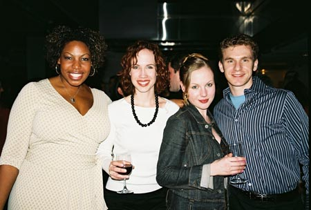 Aurelia Williams ('Menopause - The Musical'), Shannon Polly ('Normal Musical'), Courtney Glass ('Woman In White') and Adam Overett ('June B. Jones') at NYMF's Best of Fest Bash