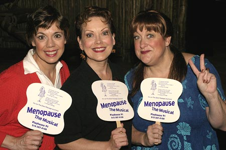 Menopause the Musical - Sally Ann Swarm, Megan Thomas, and Myra McWethy at Off-Broadway Family Photo