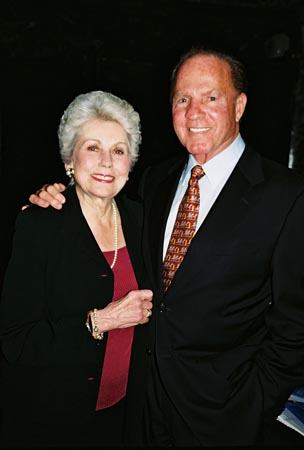 Joan Epstein (Kathie Lee's Mother) and Frank Gifford at Only Make Believe's 2005 Benefit