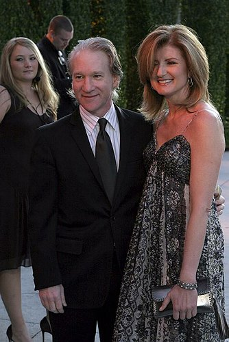 Bill Maher and Arianna Huffington at 78th Annual Academy Awards