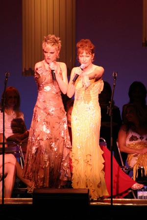 Elaine Hendrix and Ann Magnuson in 'Tips' from Pump Boys and Dinettes at What a Pair! Benefit in LA