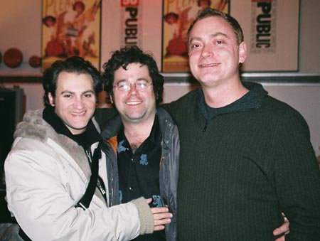 Michael Stuhlbarg, Peter Dubois (Director) and David Grimm (Playwright) at The Cast of Measure for Pleasure at the Public Theater