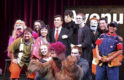 Steve Wynn joins the cast of Avenue Q at Avenue Q Hits Vegas!