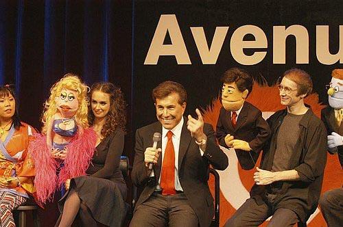 Brynn O'Malley, Steve Wynn and Rick Lyon at Avenue Q Hits Vegas!