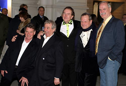 Five of the original stars of Monty Python (L to R) Michael Palin, Terry Jones, Eric Idle, Terry Gilliam, John Cleese  at Spamalot Opening Night Arrivals