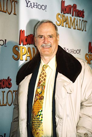 John Cleese (God, and original member of Monty Python)  at Spamalot Opening Night Party