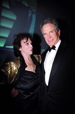 Ellen Adler and Warren  at Stella Adler Gala/Passing of the Torch - Brando to Beatty