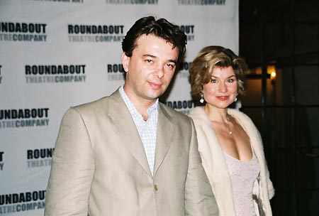 Edward Hall (Director) and wife Issy Van Randwyck at A Streetcar Named Desire Opening Night Party