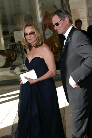Jessica Lange and Sam Shepard  at Jessica Lange Honored at Lincoln Center