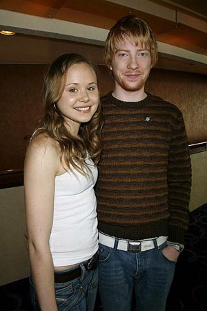 Domnhall Gleeson and Alison Pill at 2006 Tony Nominees Meet the Press