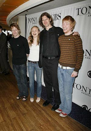 David Wilmot, Alison Pill, Wilson Milam & Domhnall Gleeson at 2006 Tony Nominees Meet the Press
