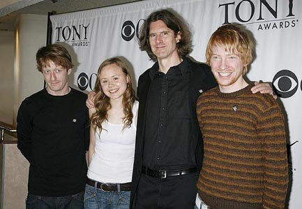 David Wilmot, Alison Pill, Wilson Milam & Domhnall Gleeson at 2006 Tony Nominees Meet the Press