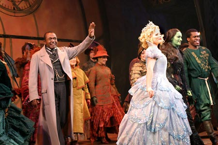 Ben Vereen, Megan Hilty, Eden Espinosa, and Derrick Williams at Wicked Celebrates 1000th Performance