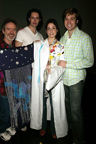 Elena Shaddow with Daniel Marcus, Greg Mills and Michael Shawn Lewis at The Woman in White Gypsy Robe Ceremony