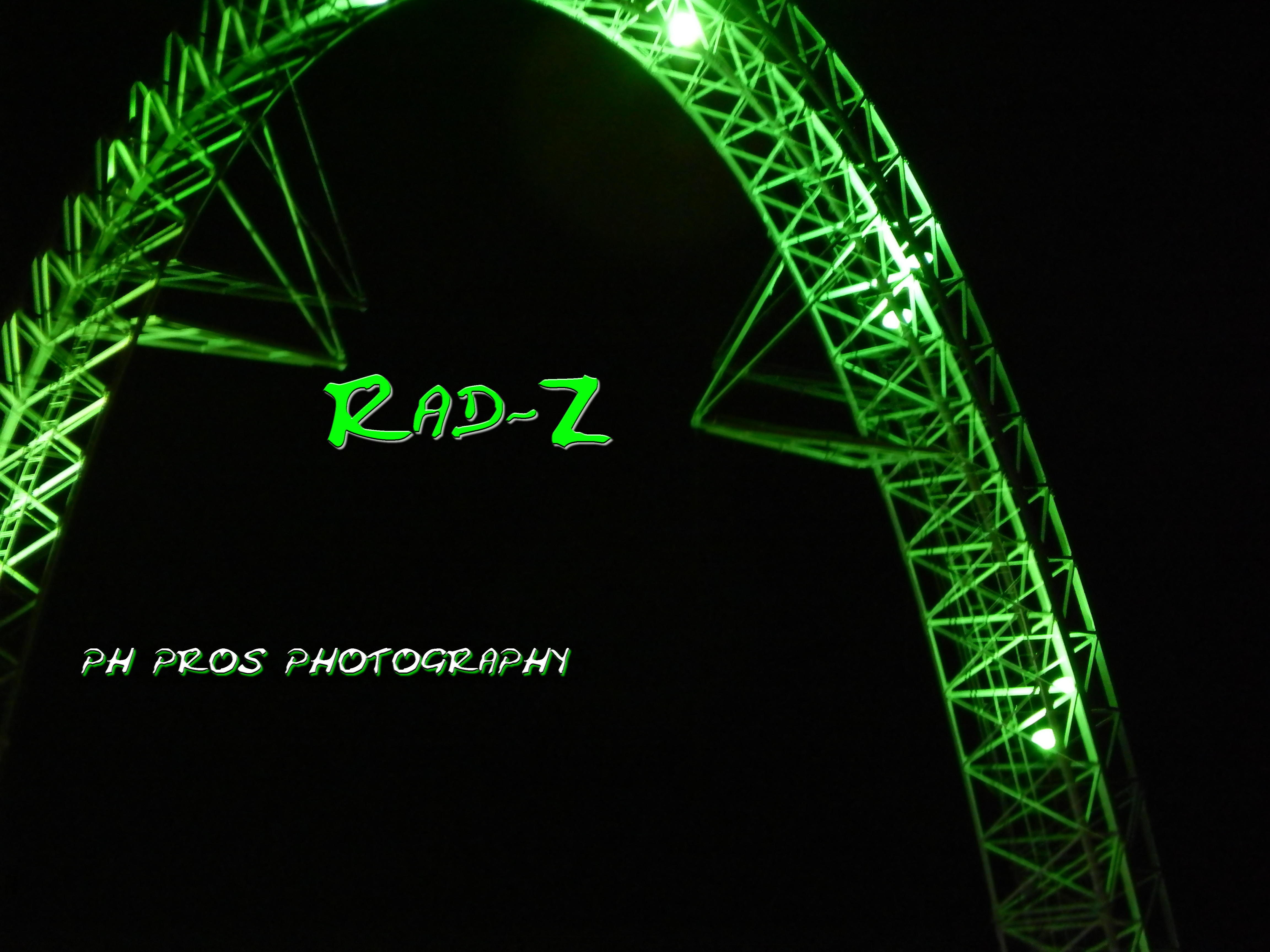 Rad going green..shot at Universal studios orlando at night..