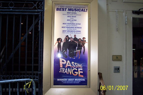 Jaystarr's 10/10 Report on PASSING STRANGE (revisited, remixed and reposted for the SCARYOTYPES) with stage door photos now!!