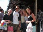 NPH AT STUDIO 54 STAGE DOOR (L-R: my friend Sarah, Neil Patrick Harris, me, my sister Sam, my friend Stephanie)