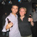 Havin' a beer with Eliza, one of the kick-ass SM's for SYMPHONIE FANTASTIQUE- Dodger Stages/Theatricals Xmas Party 12/12/04