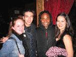Broadway Matt, dramafreak13, and Blinking Ashlie with the amazing Billy Porter at Le Jazz Au Bar- 11/15/04