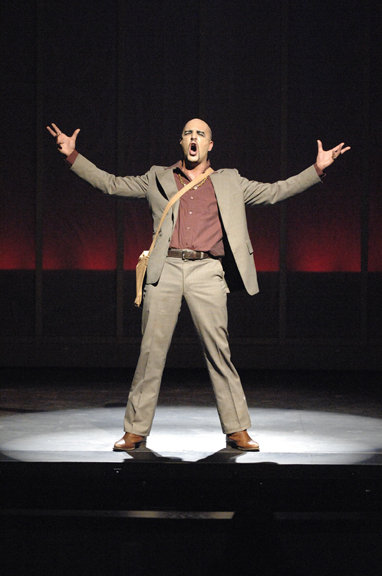 Mark DiConzo as the Engineer in Miss Saigon.