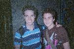 Tyler Hanes and i after his amazing frogs performance (best dancer/singer ever) and notice in my previous pics we have the same shirt lol