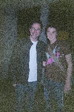 Roger Bart and i after a great FORGS performance (nathan lane ditched, i didnt cath him)