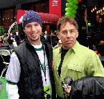 Adam J (Be Wicked Finalist) and Stephen Schwartz at Wicked Day: 10/30/04