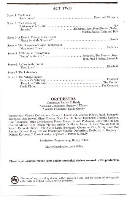 Note : Roger Bart was out on 10/20 performance