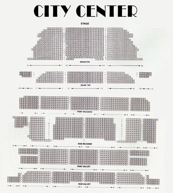 City center seating chart help message board