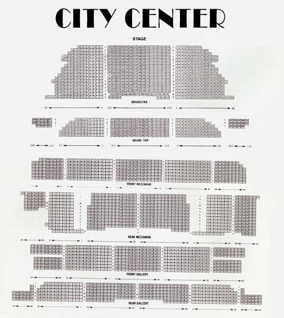 Mtc City Center Seating Chart