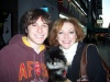 Me with Julie White and a little dog at the stage door of