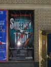 Sweeney Todd poster in Shubert Alley