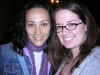 Eden Espinosa and I at the Stage Door after the first