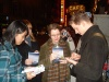 Us and Stark Sands outside of the Belasco Theatre on March 31st, 2007. I'm the one dead center with the very attractive double chin and glasses.