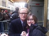 Bill Nighy at the stagedoor of