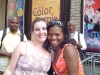 LaChanze and I after Color Purple.