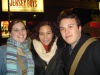 Daphne Rubin Vega with Seth and I after Les Miz.