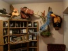 This is a wide shot of Zazu you can also see my lion head and my timone and Pumba puppets