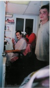 Howard McGillin after The Phantom of the Opera getting his make-up off.