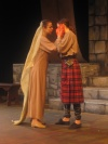Lady Macbeth (me) trying to comfort Macbeth after the murder of Duncan.