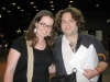Me and TONY WINNER Dan Fogler outside the Circle in the Square Theatre after 'Spelling Bee' - 7/6/05