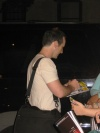 Denis O'Hare signing autographs after a performance of 'Sweet Charity' - 7/9/05
