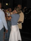 Christina Applegate signing autographs after 'Sweet Charity' (back of her) - 7/9/05