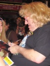 Bruce Vilanch signing autographs for the Stage Door crowd outside 'Hairspray' - 7/9/05
